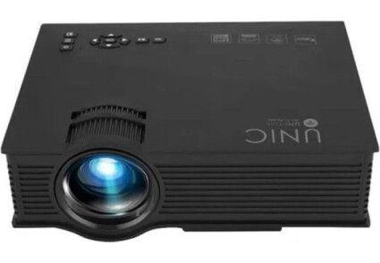 Проектор UNIC 68-BK Wi-Fi WiFi 1800 люмен, домашний WiFi видеопроектор