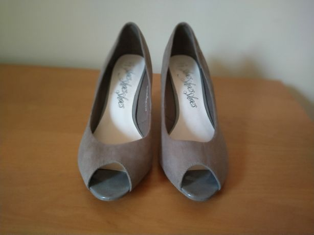 Sandały eleganckie czółenka rozmiar 42 na koturnie szerokie M&S