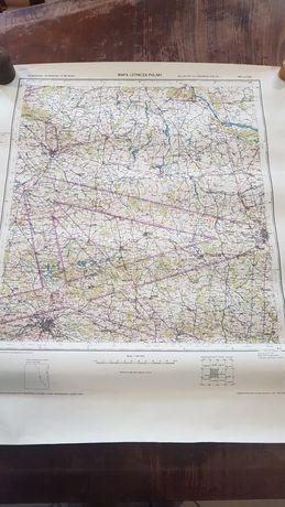 Kolekcja lotnictwo mapa lotnicza użytek wewnętrzny tajne Łódź wyd 1947