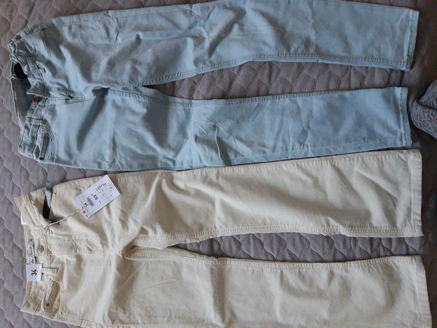 Spodnie sinsay 34 nowe plus gratis jeansy cubus 152