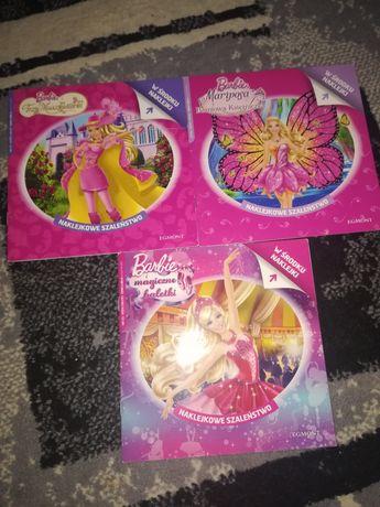 Zestaw trzech książek Barbie