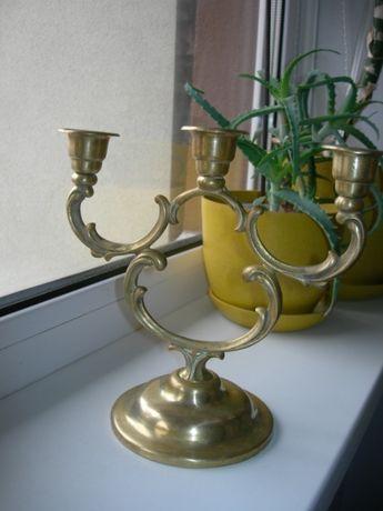 Подсвечник, 3 свечи, бронза, бронзовый, Дания