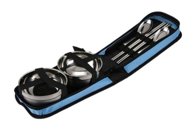 Набор для пикника Supretto в сумке Голубой