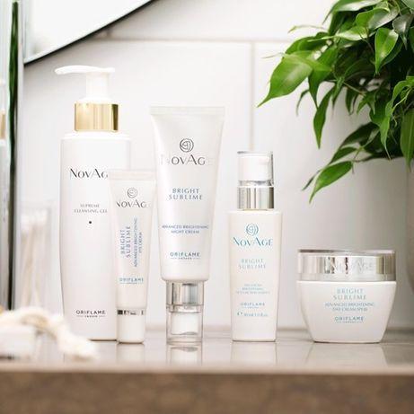 Zestaw 5 kosmetyków NovAge Bright Sublime - rozjaśniają przebarwienia