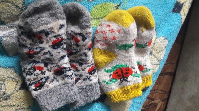Шерстяные детские  носочки