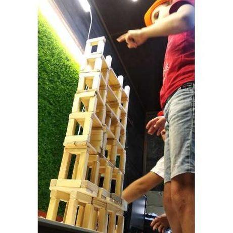 Конструктор лего-еко, блочный ,деревянный конструктор для детей