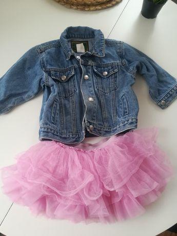 Kurtka kurteczka jeansowa niemowlęca dziewczęca 80 86