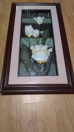 """Картина """"Цветы"""" размер 66х36"""
