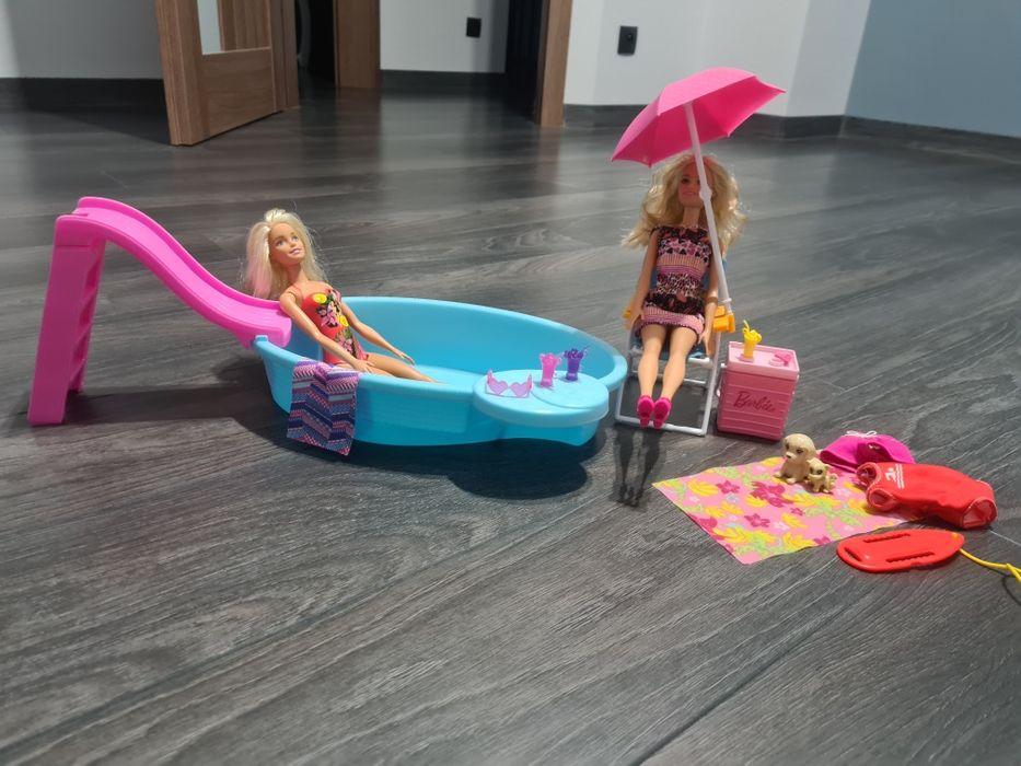 Zestaw Barbie basen i Barbie plaża Ślesin - image 1