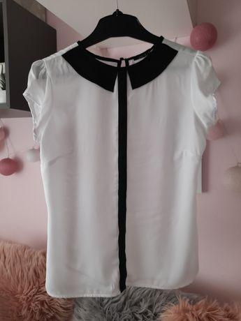 Bluzka biała koszulowa elegancka Mohito S