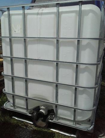 mauser mauzer pojemnik IBC kosz zbiornik na palecie 1000 litrów
