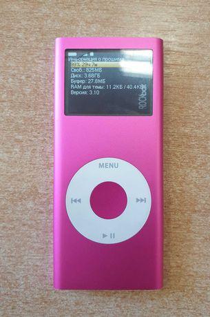Ipod nano 2 оригинал на 4Gb c прошивкой RockBox цвет фуксия