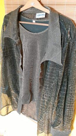 Damski komplet bluzka i koszula XXL