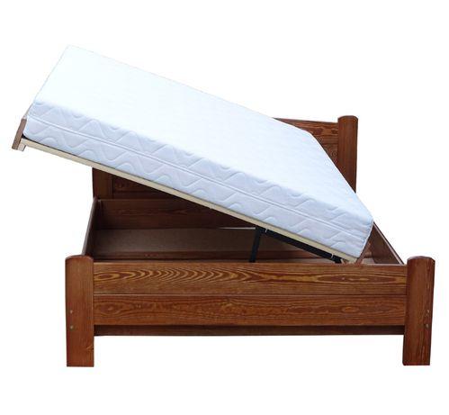 łóżko drewniane podnoszone z boku z wysokim siedziskiem AZYL 140x210