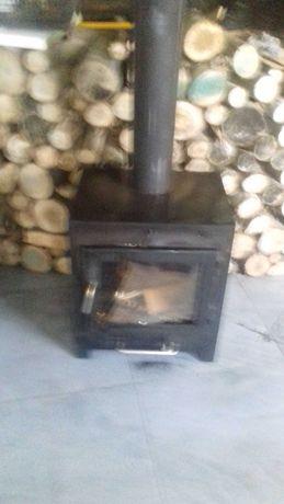 Salamandra [recuperador de calor ] forrada  a tijolos  de burro