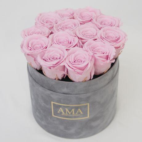 Róże wieczne stabilizowane prezent trwałość 2 lata