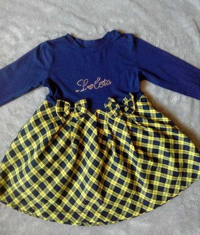 Платье для девочки / теплое платье
