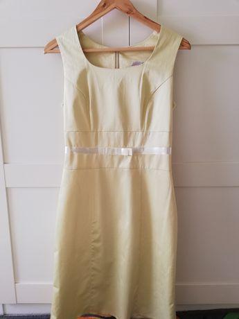 Pistacjowa sukienka, na komunię, wesele