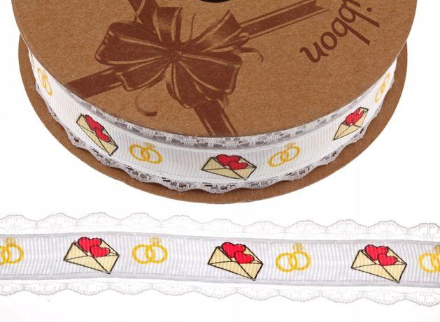 T101 tasiemka slub dekoracja ozdoba wesele rolka
