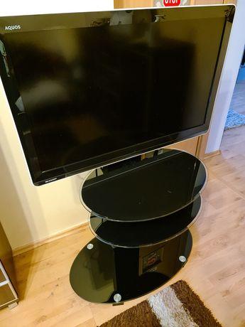 Telewizor Sharp Aquos 37 stojak stolik uchwyt zestaw szklany używany