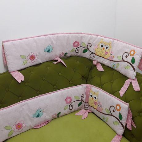 Ochraniacz do łóżeczka 256 cm x 24 cm