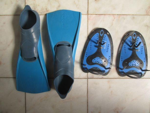 barbatanas pés e mãos - natação