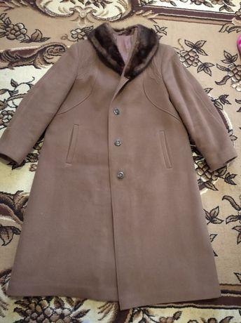 Пальто с воротником из норки