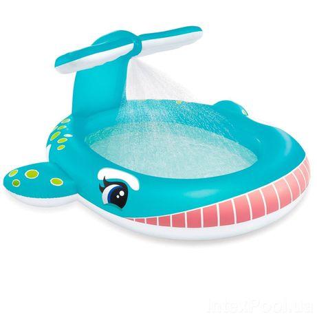 Детский надувной бассейн Intex 57440 «Кит», 201х 196х 91см, с фонтаном