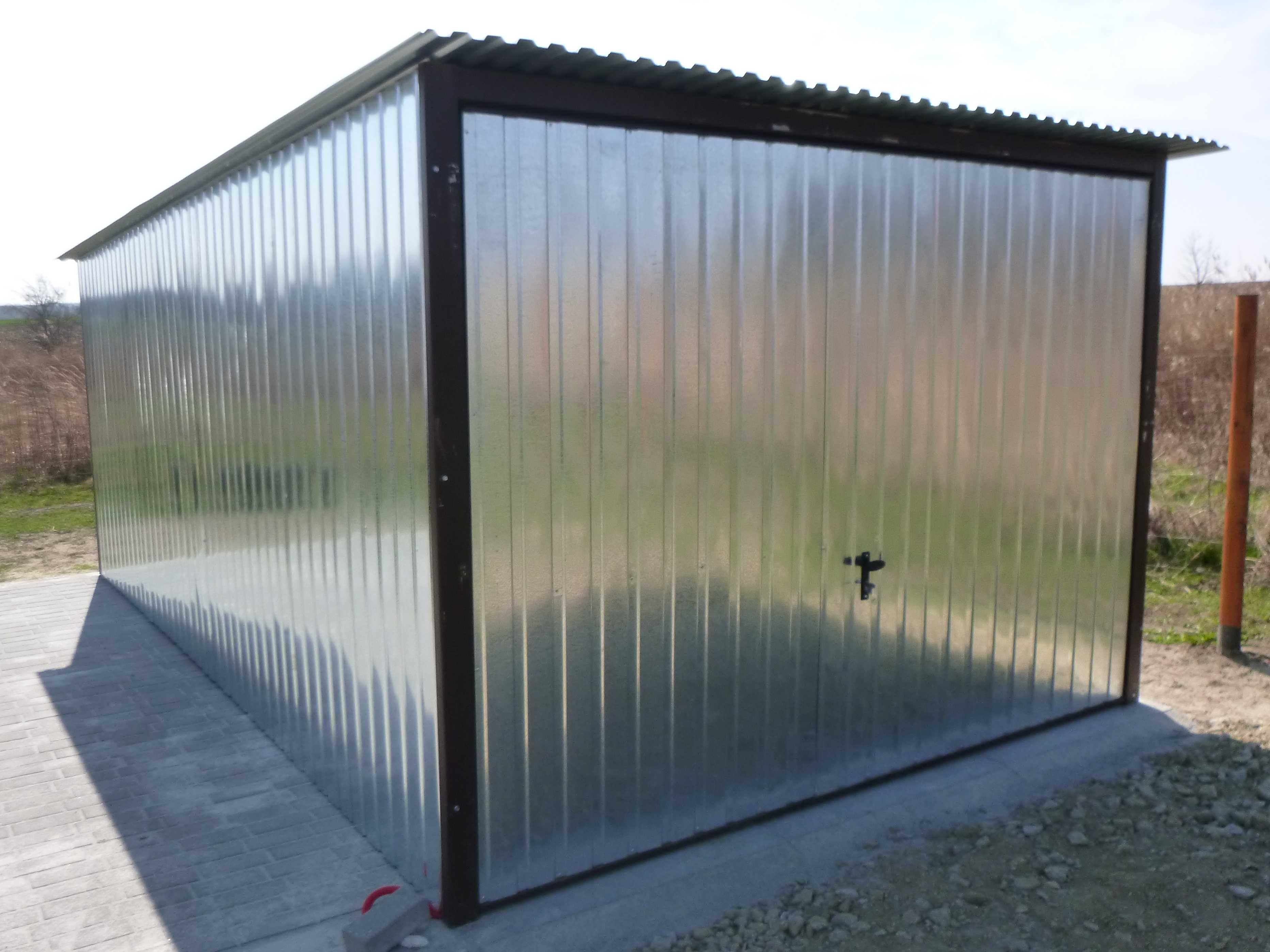 Garaż Blaszany Schowek Garaże blaszane Blaszak na budowę WZMOCNIONY