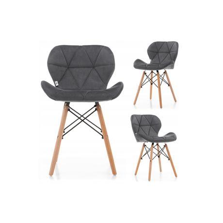 Krzesło tapicerowane skandynawskie SK04 welur