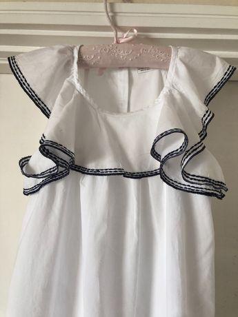 Vestido branco T11-12 anos com folho Zippy