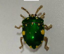 на подарок новая брошь брошка зеленый жук жучок 3.5 см