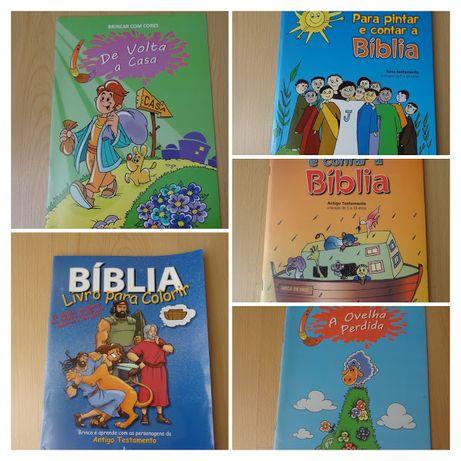 Livros da biblia para crianças : pintar, conhecer histórias