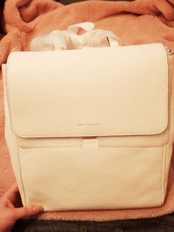 Coccinelle Taylor biały plecak skóra