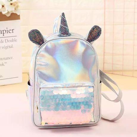 Рюкзак единорог голографический. Backpack unicorn.