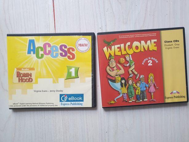 Продам учебные английские диски ACCES 1 WELCOME 2