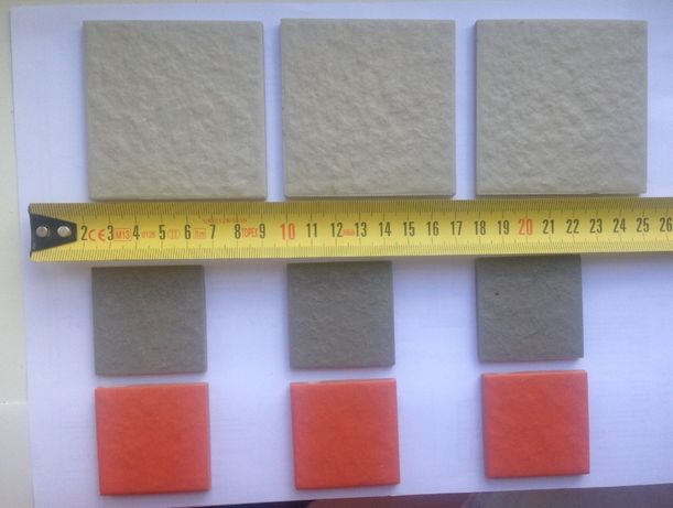 Плитка мозаика керамика оранжевая - 4,5х4,5см;