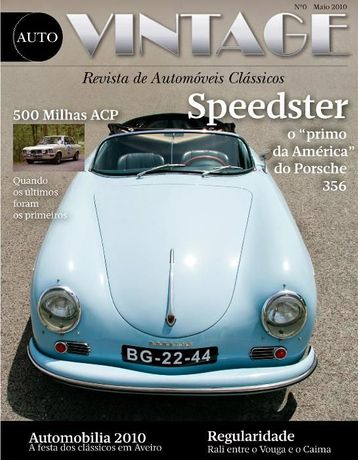 2 Revistas Auto Vintage Nº zero e Nº 1 (Portugal)