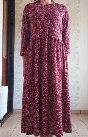 Ярусное платье в анималистический принт.