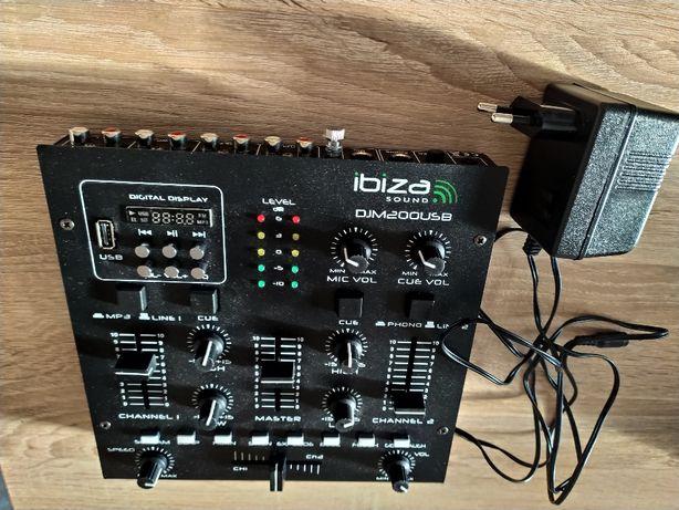 Mikser 2-kanałowy Ibiza DJM200USB MP3 USB