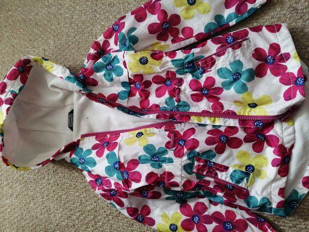Квітчастий куртка-плащ