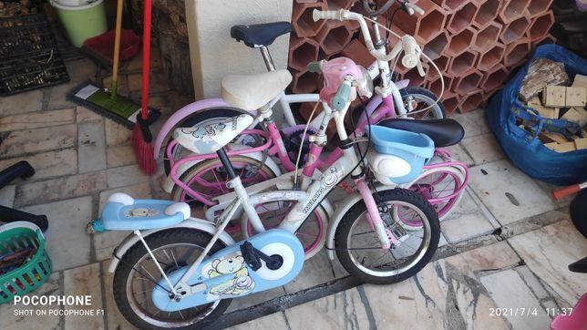 Bicicletas e trotinetes e cavalo Chico