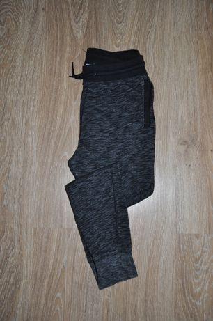 Спортивные штаны джоггеры серый меланж h&m