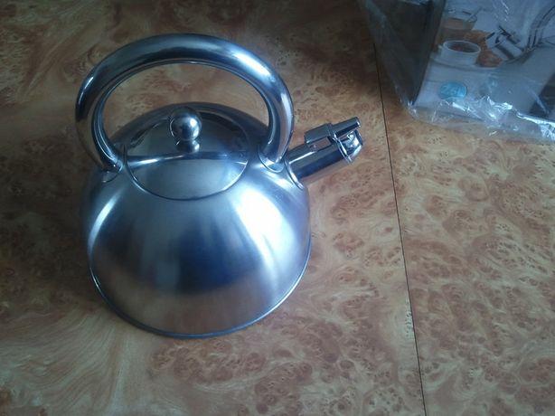 Новый Чайник 2,5 литра экологичный со свистком, нержавейка НА ПОДАРОК