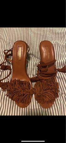 Sandalki zamszowe Firenze Aquazzaura
