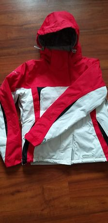 Kurtka narciarska M Trespass  damska, różowo-biała.