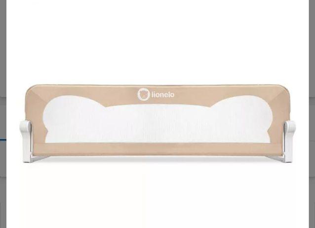 Lionelo, Eva, barierka zabezpieczająca na łóżko, beige, beżowa