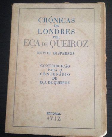 Livro raro de Eça de Queiroz Crónicas de Londres 1944