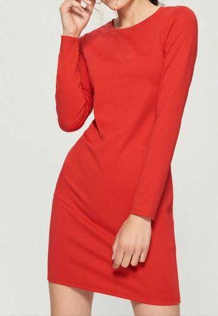 Prosta sukienka czerwona