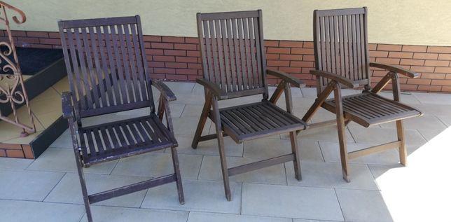 leżak drewniany składany fotel ogrodowy krzesło drewniane łózko matera